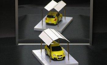 ¿Cómo es posible que el reflejo del techo en el espejo tenga una forma diferente a la que vemos? nullTecho ambiguo de garajenull, es el título de esta ilusión óptica del matemático e ingeniero japonés Kokichi Sugihara.