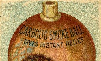 nullBola de humo carbólica, da alivio instantáneonull, dice este anuncio.