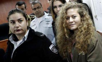 Ahed Tamimi fue liberada tras 8 meses en prisión.