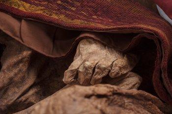 La ropa de las momias estaban espolvoreadas con cinabrio.