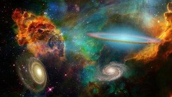 El universo está compuesto por un gran número de galaxias.