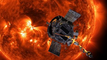Los paneles solares a ambos lados de la sonda pueden plegarse para protegerlos del calor extremo.
