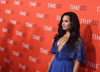 Demi Lovato en la gala de la revista Time en abril de 2017 <br>