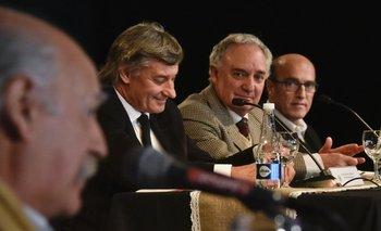 Juan Carlos López, Alejandro Carvalho, Pablo Zerbino y Daniel Martínez.