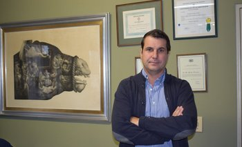 Rodrigo Fernández, gerente agropecuario del establecimiento Frigorífico Modelo.