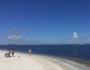 Los bañistas que llegan a la playa se lo piensan dos veces antes de entrar al agua.