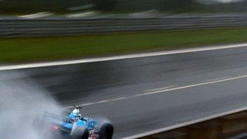 La lluvia también estuvo presente en el Gran Premio de Bélgica.