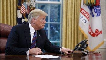 Donald Trump tuvo una conversación telefónica pública con Peña Nieto.