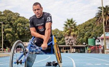 Eduardo Dutra en la Pista de Atletismo