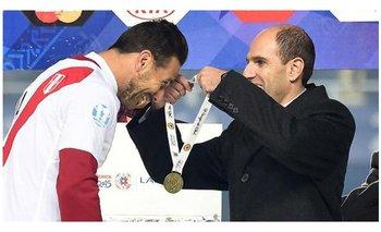 Jadue entregó las medallas de bronce a Perú