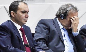 El príncipe Ali y Platini en mayo pasado
