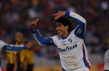 En el campeonato especial de 2005 cuando jugó con Suárez en Nacional