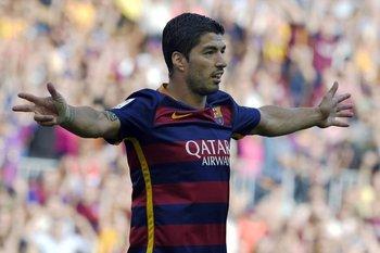 Luis Suárez marcó dos goles para Barcelona<br>