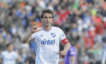 Iván Alonso, anotó tres goles en la unica victoria de Nacional en Melo: 4-1 en el Apertura 2013/14, la última vez que jugaron