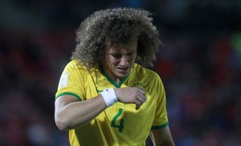 David Luiz dejó la cancha llorando cuando se lesionó en el partido ante Chile