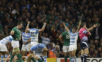 Tremenda celebración de Los Pumas ante Irlanda