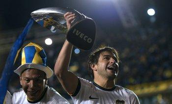 Lodeiro y la celebración del título de Boca Juniors<br>