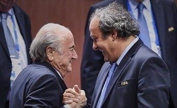 Joseph Blatter y Michel Platini hace poco tiempo