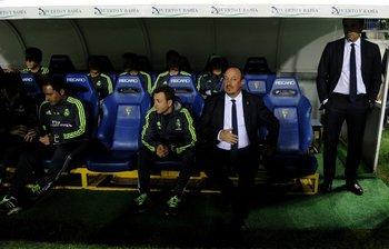 Rafa Benítez, DT de Real Madrid, en el partido contra Cádiz
