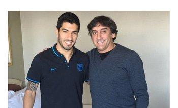 Enzo Francescoli junto a Luis Suárez<br>