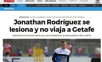 Marca informó sobre la lesión de Jonathan<br>