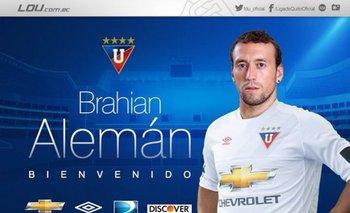 Liga de Quito anunció la llegada de Alemán