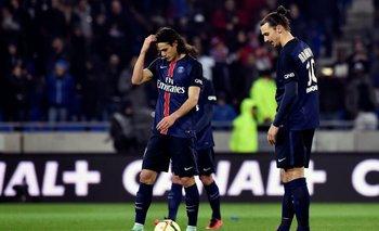 Edinson Cavani y Zlatan Ibrahimovic