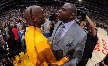 Kobe Bryant y Magic Johnson