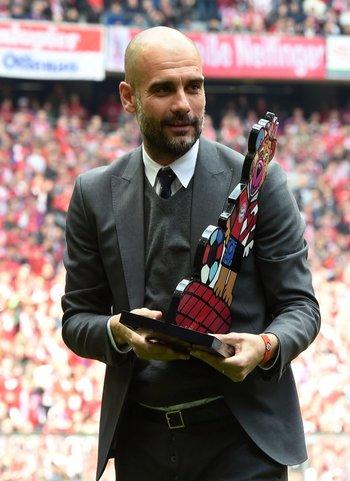 Guardiola, se va del Bayern, con tres Bundesligas ganadas<br>
