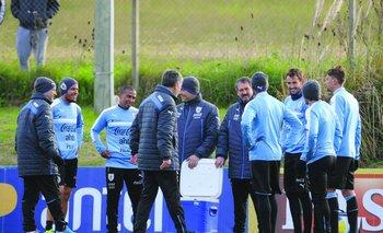 Primera práctica de Uruguay para la Copa América Centenario