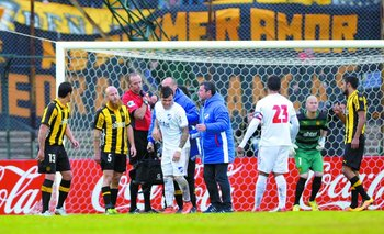 Cristian Tabó se lesionó en el clásico
