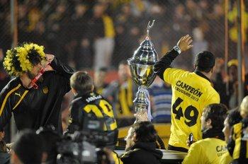 Así festejaron la última Copa Uruguaya los jugadores de Peñarol: el título 49<br>
