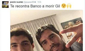 Paolo Suárez con Luis