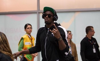 Usain Bolt en su llegada a Río