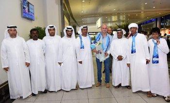 Repetto con los dirigentes de Baniyas