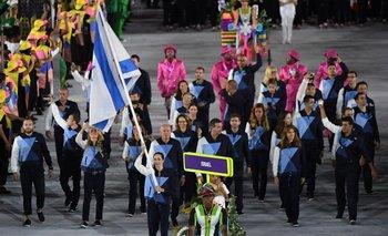 La delegación de Israel en Maracaná.