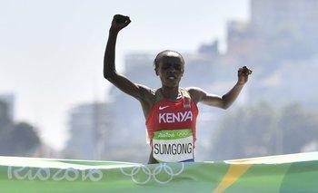 Jemima Sumgong ganó la maratón