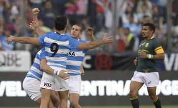 Festeja Argentina, tras el triunfo ante Sudáfrica<br>