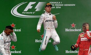 Rosberg celebró otra vez, aunque es su primera victoria en Monza