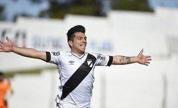 Juan Ignacio González marcó el primer gol para Danubio ante Plaza<br>