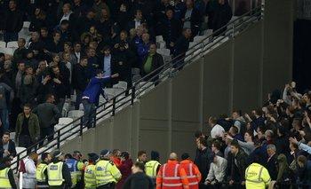 Incidentes entre West Ham y Chelsea