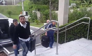 La llegada de Messi a la concetración argentina