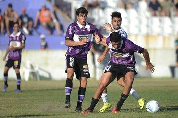 Agustín Canobbio, Cristian Souza y Maximiliano Cantera