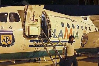 El avión de LaMia cuando trasladó a Argentina