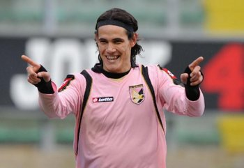 Palermo fue el primer destino europeo de Cavani, anotó 37 goles