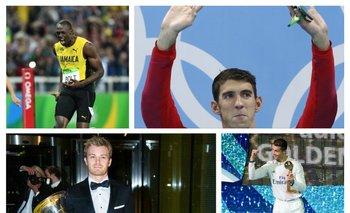 Bolt, Phelps, Rosberg y CR7