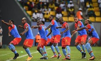 El festejo de los jugadores de Congo
