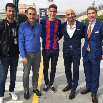 Santiago Bueno en las instalaciones de FC Barcelona