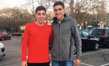 Federico Valverde y Santiago Bueno, juntos en España