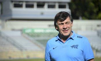 Daniel Hourcade, DT de Los Pumas.<br>